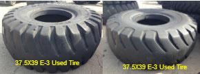 37.5X39 E-3 Used OTR Tires
