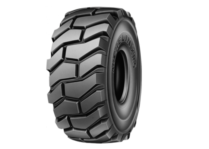 MICHELIN XRS the non-directional E4R tire for high powered scrapers, for use in harsh working conditions